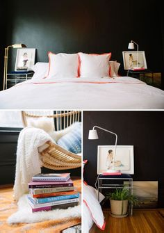 Dark Kettle by Valspar Black Bedroom | Oh Happy Day @Alexis Apodaca