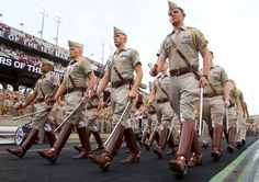 The Aggie Corps of Cadets with Seniors leading the way.