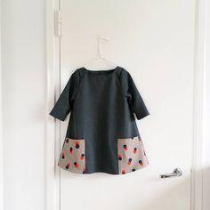 Dress with pockets, second hand fabrics