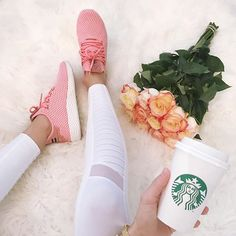 Favorite sneakers! They come in a bunch of colors. They run big I went a full size down. Details 👉🏻 http://liketk.it/2sztw #liketkit @liketoknow.it ps I also linked my necklaces that I was wearing in my story yesterday for everyone that was asking. #starbucks #freshflowers #adidas #athleisure #wiw #whatiwore #igstyle #instafashion