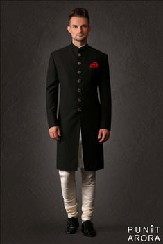 Mens Indian Wear, Indian Groom Wear, Indian Men Fashion, Mens Fashion Suits, Men's Fashion, Mens Sherwani, Sherwani Groom, Wedding Sherwani, Wedding Dresses Men Indian