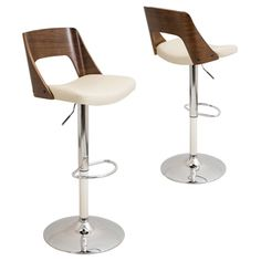 Shop for Valencia Mid-century Modern Walnut Finished Adjustable Bar Stool. Get free shipping at Overstock.com - Your Online Furniture Outlet Store! Get 5% in rewards with Club O!