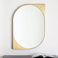 Reflect bold style with our Cat Eye Metal Wall Mirror, which makes a statement with its cutout frame finished in antique brass. White Wall Mirrors, Lighted Wall Mirror, Silver Wall Mirror, Round Wall Mirror, Diy Mirror, Art Deco Mirror, Wall Mirror Ideas, Mirror Collage, Vanity Mirrors