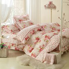 Aliexpress.com : Buy Elegant and comfortable bed cover 4pcs bedding sheet with bed skirt duvet cover and lotus leaf of pillowcase with dyeing process from Reliable bed cover suppliers on Yous Co., Ltd. $86.00 - 88.00