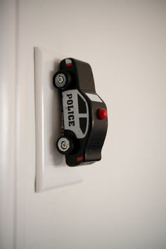 upcycle a wooden car to a customized light switch, bedroom ideas, diy, lighting, repurposing upcycling Diy Auto, Wooden Car, Diy Car, Car Lights, Kid Spaces, Kids Decor, Diy For Kids, Upcycle, Kids Room