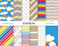 Rainbow Digital clipart rainbow clip art  BR 393