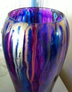 Alcohol Ink Vase - Kate Wellard
