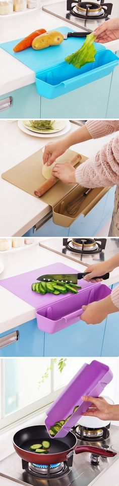 There's something simple and beautiful about this chopping board with a storage box. It ticks all the boxes of good product design, solving problems without creating new ones. The container and chopping board are two independent units that lock together, forming one superior kitchen product that rests perfectly on any counter-top, courtesy its 'L' shape. BUY NOW!