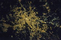 Rome at Night An astronaut aboard the International Space Station took this photograph of the city of Rome and its surrounding countryside. The radial pattern of major highways leading to Image Of The Day, Gif Of The Day, Rome At Night, Light Pollution, International Space Station, Earth From Space, World View, Park City, Heritage Site