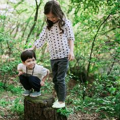 2015 Summer Looks Girl & Boy in forest #베네베네 #아동복 #benebene #kidsbrand…