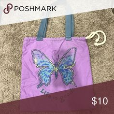 Life is good tote Cute butterfly Life Is Good bag. Cinches at top. Life is Good Bags Totes