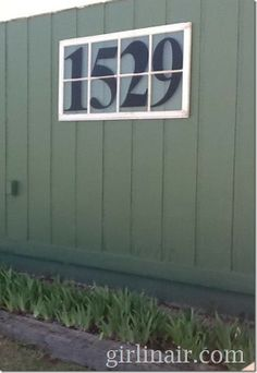 house numbers~  great way to use an old window