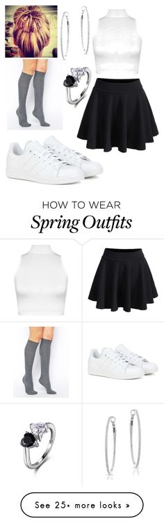 """Casual Summer/Spring Outfit"" by saigonpalace on Polyvore featuring adidas, ASOS and WearAll"