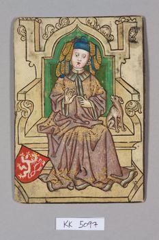 "Königin [Queen] Böhmen [Bohemia], ""Hofämterspiel"" for King Ladislas ""Posthumus"", c. 1455"