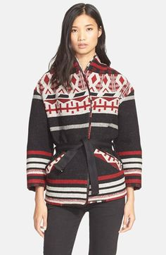 IRO 'Ashton' Belted Wool Blend Jacket available at #Nordstrom