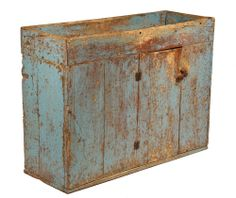Early dry sink in original blue paint.  google.com