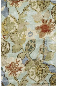 The Home Decorators Collection 8 ft. x 11 ft. Area Rug adds style and comfort to any room. This tufted rug is designed with elements of green, adding to your unique color scheme. It has a floral motif, bringing blossom-filled decor into your home.