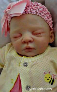 Realistic Reborn Baby Girl Sold Out Limited by MoonlitNightNursery