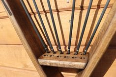 Archery Shop, Archery Hunting, Bow Rack, Red Oak Wood, Wooden Projects, Diy Projects, Traditional Archery, Grey Stain, Wall Racks