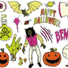 Psychedelic Halloween Vector Pack