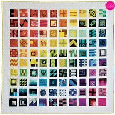 """Tula Pink City Sampler Quilt from """"Tula Pink's City Sampler: 100 Modern Quilt Blocks"""" by Tula Pink"""
