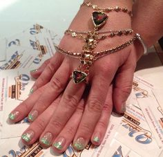 Nail art + gypsy jewels