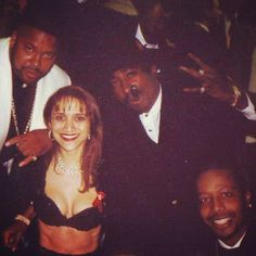 Suge Knight, Tupac Shakur, MC Hammer at the Grammy Awards Feb 28, 1996