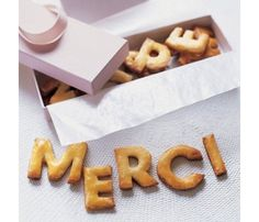 Merci Cookies -- Great alternative thank-you note idea!