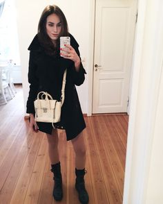 pea coat combat boots outfit