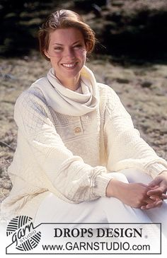 Drops Sweater with textured pattern in Ladies and Gents sizes in Alpaca Free pattern by DROPS Design.
