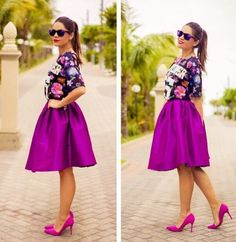 Image via We Heart It https://weheartit.com/entry/152149971 #beautiful #Chica #cool #dress #fashiongirl #grease #highheels #lentes #moda #outfit #ponytail #purple #sunglasses #trend #hermoso
