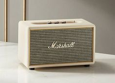 Iconic design meets classic Marshall performance in this compact multi-room speaker. Small in stature but serious in power, Acton produces well-balanced audio from even the tiniest of shelves. Marshall Acton, Multi Room Speakers, Teenager Birthday, Wine Bucket, Audio Room, Teen Room Decor, Fireplace Accessories, Marshall Speaker, Marshalls