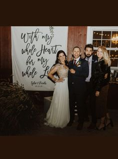 We had to shift our original reception plans to 100% outdoors. I ordered this backdrop to add some fun details to the party and I have to say we loved it! The quality was wonderful, easy to hang, and beautiful against the barn we were married outside of! We are so thankful we stumbled upon this fun product during our wedding planning process! #rusticwedding #weddingplanning #weddingdecor Rustic Wedding Reception, Wedding Ceremony Backdrop, June Wedding Colors, Country Wedding Decorations, Wedding Photo Props, Wedding Background