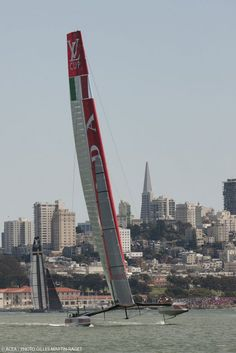 The Crazy Tech Behind The 2013 America's Cup 8 awesome facts about the world's fastest sailing yachts By Lillian Steenblik Hwang 9.9.13  The Crazy Tech Behind The 2013 America's Cup | Popular Science