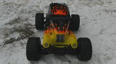 Maiden Run Of My HSP Pro 88046 Brushless Hot Rod Monster Truck