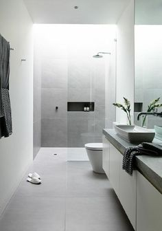 50 best of modern bathroom renovation ideas find this pin and more on bathroom bedroom eyes . 50 best of modern bathroom renovation Light Grey Bathrooms, Grey Bathroom Tiles, Bathroom Tile Designs, Modern Bathroom Design, Bathroom Interior Design, Bathroom Ideas, Bathroom Black, Master Bathroom, Bathroom Cabinets