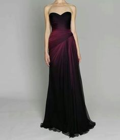 Deep amethyst dress for Vivian