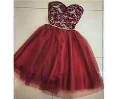 Burgundy Homecoming Dress,Chiffon Homecoming Dresses,Short Prom Dress,Strapless Evening