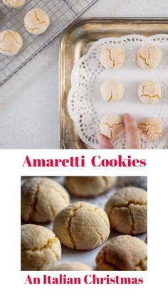 Italian Christmas Cookie Recipes, Italian Cookie Recipes, Holiday Cookie Recipes, Holiday Cookies, Amaretti Cookie Recipe, Amaretti Cookies, Gluten Free Cookies, Yummy Cookies, Gluten Free Biscotti Recipe