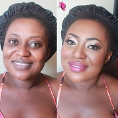 #MakeoverMagic with our lovely bride Francesca on her big day  #beforeandafter #makeovermonday #bridalmakeup by Kay of #kayanabeauty #kayanabeautytrends