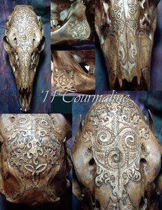 Shaman Deer skull by ~tourmaline-83 on deviantART.  So pretty.
