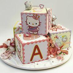 """Торт """"Кубик Hello Kitty"""""""