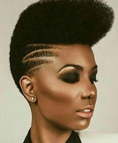 """Dope cut captured by Pelo Natural, Au Natural, Natural Hair Cuts, Twa Hairstyles, Natural Women, Natural Girls, Tapered Hair, Sassy Hair, Hair Shows"