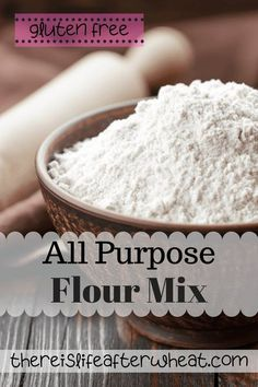Looking for a homemade, all-purpose gluten free flour mix? Look no further! This recipe has been specially formulated for yeast breads/rolls, muffins, and quick breads. Best Gluten Free Desserts, Gluten Free Recipes For Breakfast, Foods With Gluten, Dairy Free Recipes, Bread Recipes, Baking Recipes, Gluten Free Flour Mix, Gluten Free Living, Fall Recipes