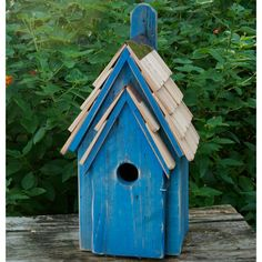 Rustic Bluebird Houses from $63.25 with Free Shipping! Stone washed cypress bird house makes bluebirds happy nesters.
