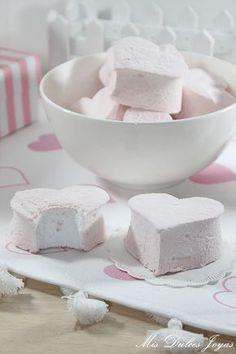 Mis Dulces Joyas: Nubes de azúcar (Malvaviscos) - Homemade Marshmallows