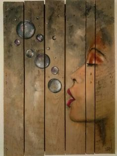 Sonja Roosenhart. For sale. Oil painting on a reclaimed pallet 70x100cm #AVAILABLE