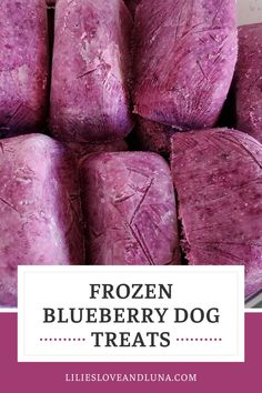 This easy to make frozen dog treat only uses 2 ingredients.