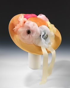 Picture hat House of Lanvin ca. 1985