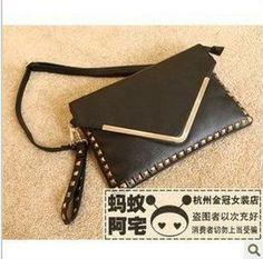 Wholesale rivets holding envelope bag handbag embossed metal edge personality tide paage Platinum paage